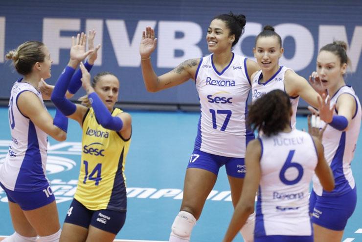 Rexona-Sesc segura Goncharova e avança à semifinal do Mundial