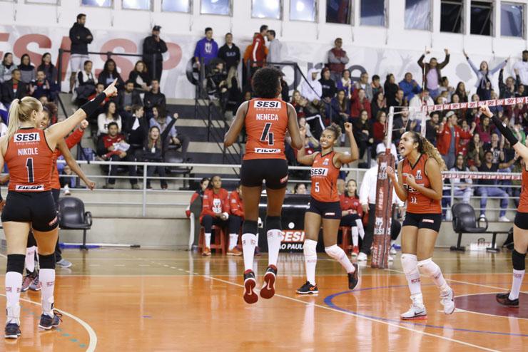 Meninas do Sesi-SP conquistam a vaga para a Superliga